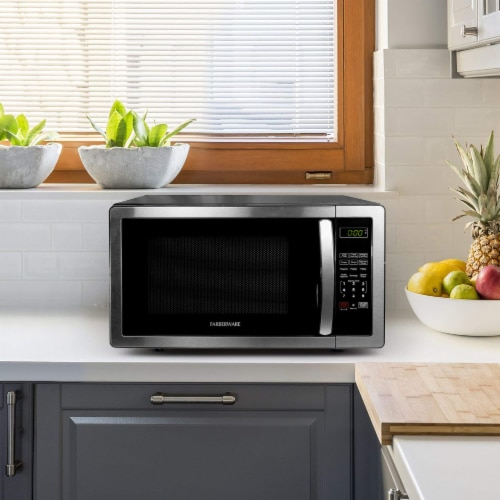 Farberware Classic 1000-Watt High Performance Microwave Oven - Stainless Steel Perspective: top