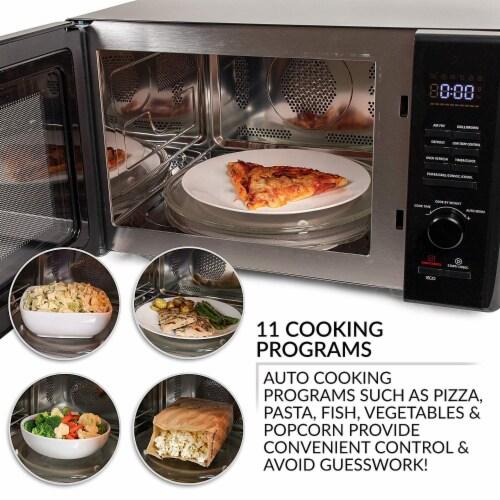 Farberware 1000-Watt Microwave Oven - Black / Stainless Steel Perspective: top