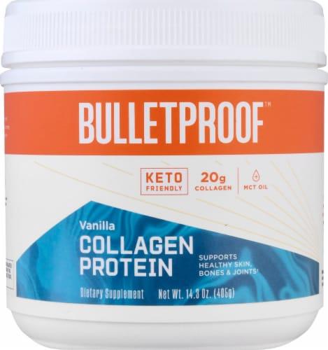 Bulletproof Vanilla Collagen Protein Powder Perspective: top