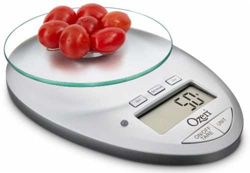 Ozeri Pro II Digital Kitchen Scale with Removable Glass Platform and Kitchen Timer Perspective: top