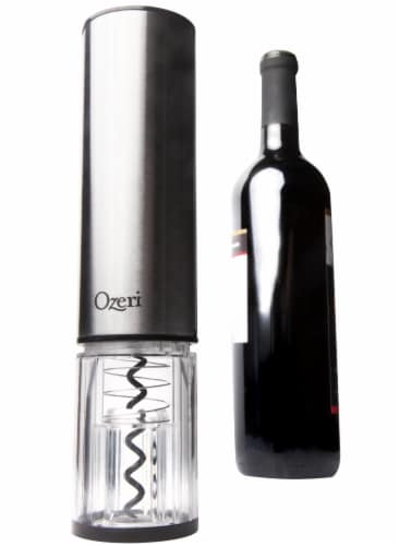 Ozeri Extravo Electric Wine Opener in Stainless Steel with Auto Activation Perspective: top