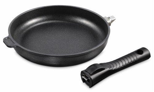 """Ozeri Professional Series 10"""" Hand Cast Ceramic Earth Fry Pan, Removable Handle, Made in DE Perspective: top"""