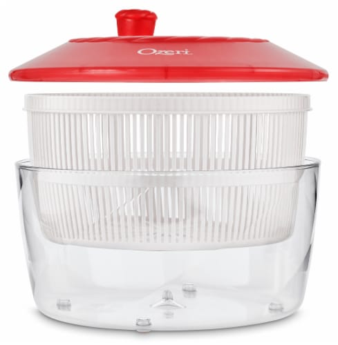 Ozeri Italian Made Fresca Salad Spinner and Serving Bowl, BPA-Free Perspective: top