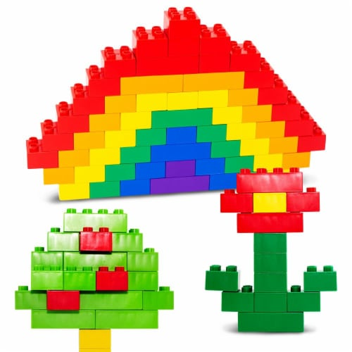 100 Pcs BiOBUDDi Assorted Blocks Set Perspective: top