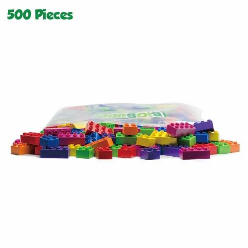 500 pcs BiOBUDDi Assorted Blocks Set Perspective: top