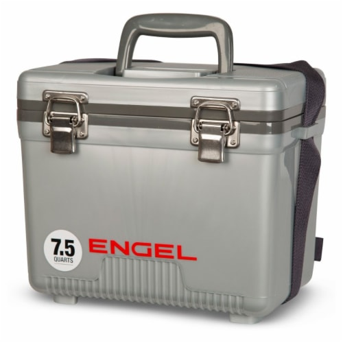 Engel 7.5-Quart EVA Gasket Seal Ice and DryBox Cooler with Carry Handles, Silver Perspective: top