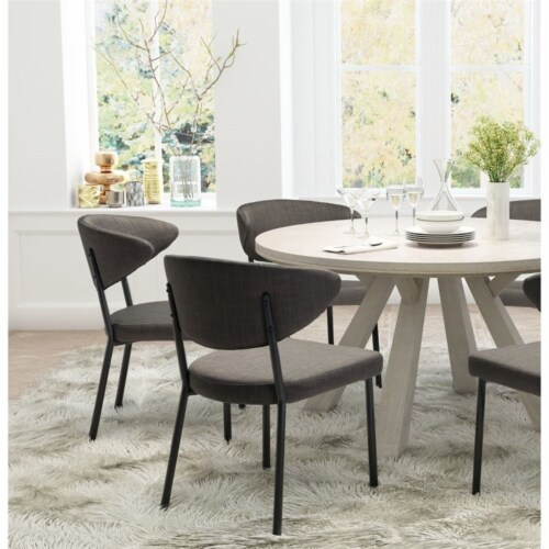 Zuo Pontus Dining Chair in Charcoal Gray (Set of 2) Perspective: top
