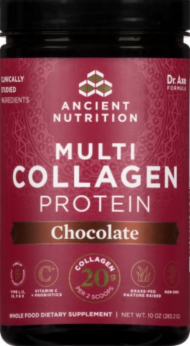 Ancient Nutrition Chocolate Multi Collagen Protein Perspective: top