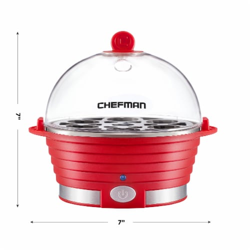 Chefman Electric Egg Cooker Boiler - Red Perspective: top