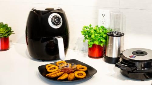 Chefman Flat Basket Air Fryer - Black Perspective: top