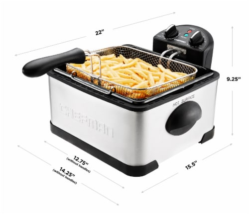 Chefman Stainless Steel Deep Fryer Perspective: top