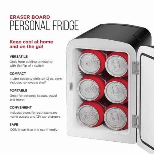 Chefman Mini Portable Eraser Board Personal Fridge - Black Perspective: top