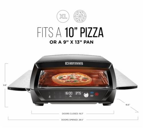 Chefman Food Mover Conveyor Toaster Oven - Black Perspective: top