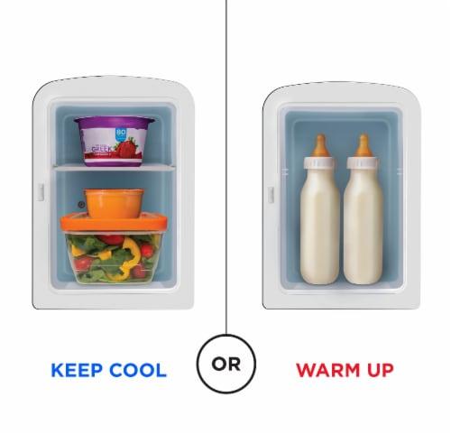 Chefman Portable Mirrored Beauty Fridge - Black Perspective: top
