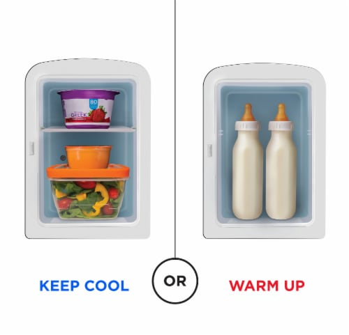 Chefman Portable Mirrored Beauty Fridge - White Perspective: top