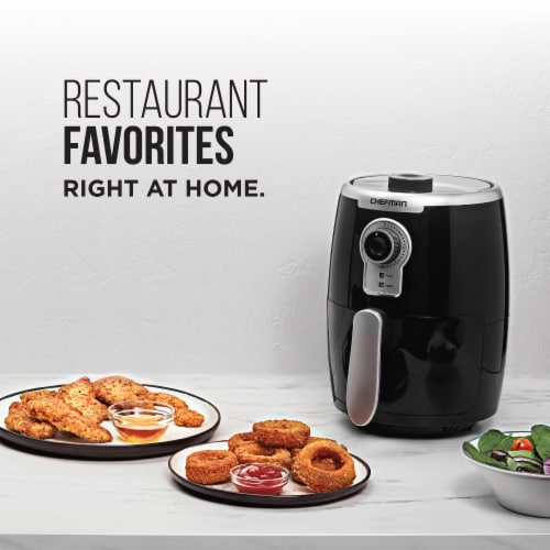 Chefman TurboFry Air Fryer - Black/Silver Perspective: top