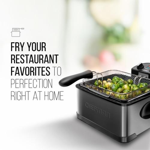Chefman Stainless Steel Deep Fryer - Black Perspective: top