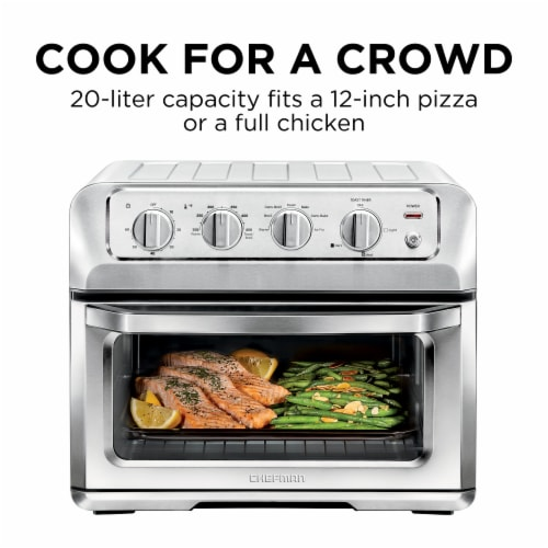Chefman Stainless Steel ToastAir Air Fryer and Toaster Oven Perspective: top
