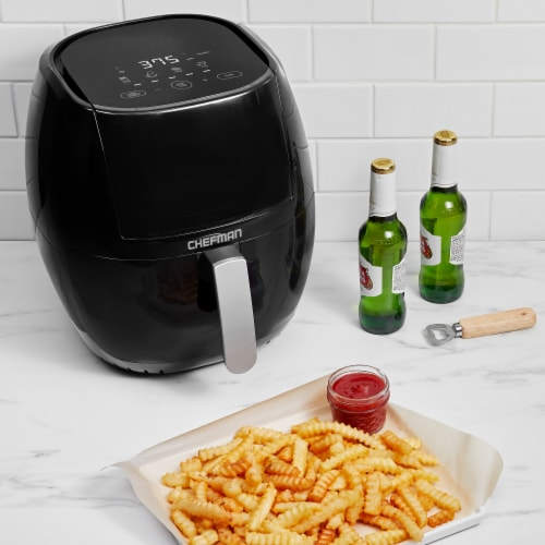 Chefman TurboFry Touch Air Fryer - Black Perspective: top
