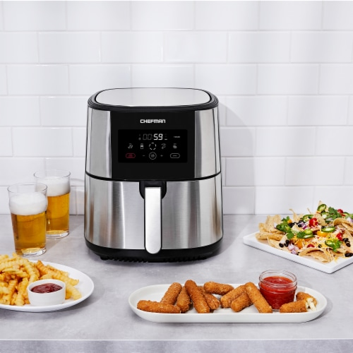 Chefman TurboFry Stainless Steel Air Fryer - Silver Perspective: top