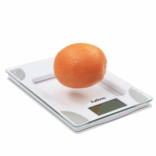 Furinno DaPur Precision Kitchen Scale, White Perspective: top