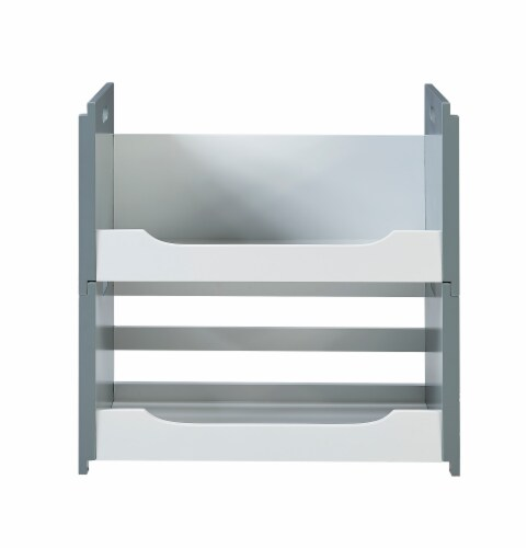 Versanora Wooden Stacking Storage Shelving Unit A White/Grey Cubo VNF-00006 Perspective: top