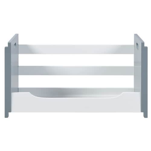 Versanora Wooden Stacking Storage Shelving Unit B White/Grey Cubo VNF-00007 Perspective: top