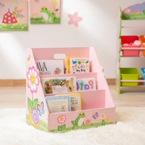 Kids Bookcase Childrens Magazine Rack Tidy Magic Garden Fantasy Fields TD-13142A Perspective: top