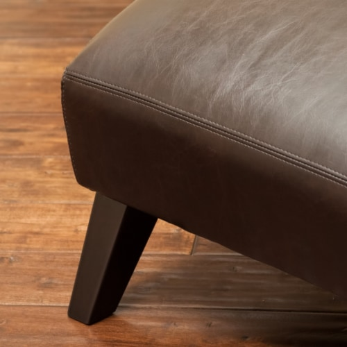 Cleveland Brown Leather Chaise Lounge Chair Perspective: top