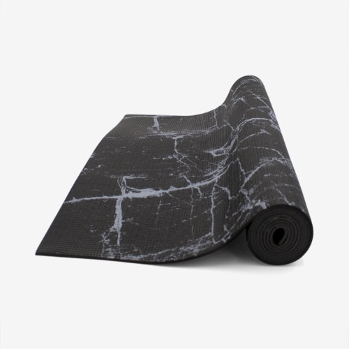 Oak and Reed Non-Slip  Yoga Mat, Black Marble Perspective: top