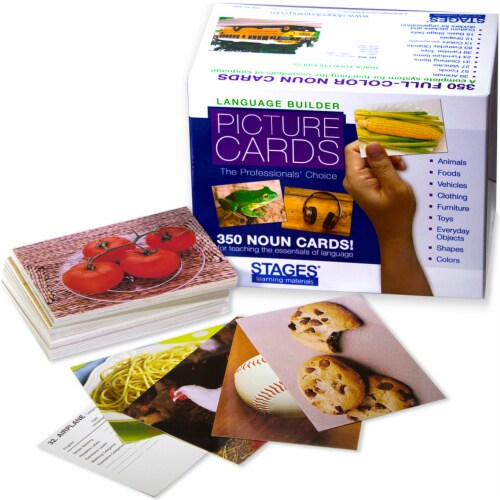 Stages Learning Materials Language Builder Picture Nouns Cards Set Perspective: top