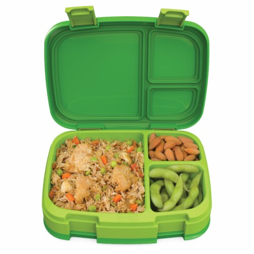 Bentgo Fresh Leak-Proof & Versatile Compartment Lunch Box - Green Perspective: top