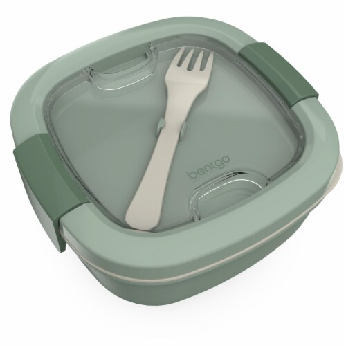 Bentgo Salad On-The-Go Food Container - Slate Perspective: top