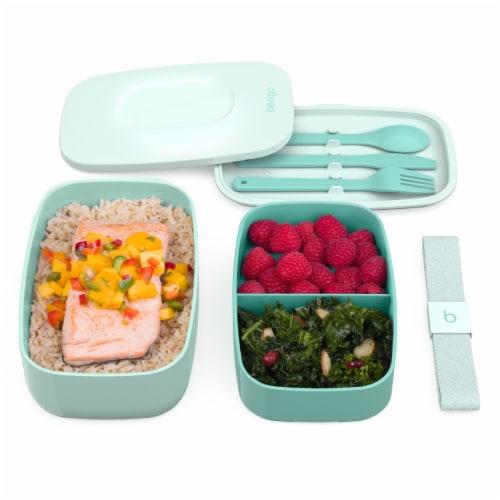 Bentgo Classic On-The-Go Food Container - Coastal Aqua Perspective: top