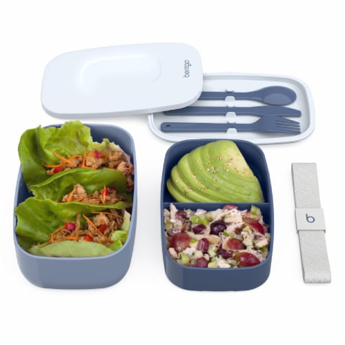 Bentgo Classic On-The-Go Food Container - Slate Perspective: top