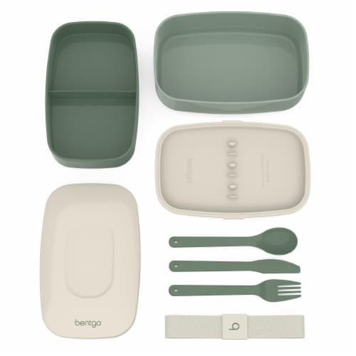 Bentgo Classic On-The-Go Food Container - Khaki Green Perspective: top