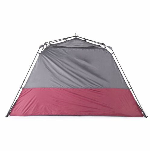 CORE Instant Cabin 11 x 9 Foot 6 Person Cabin Tent with Air Vents and Loft, Red Perspective: top