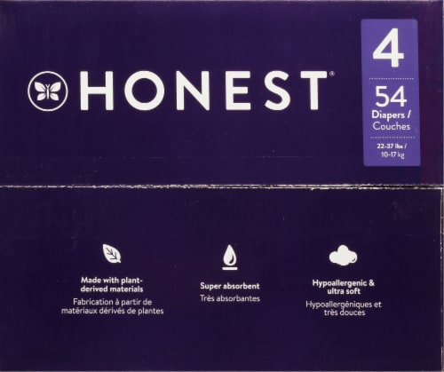 The Honest Co. Overnights Size 4 Diapers Perspective: top