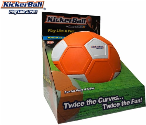 Kickerball® Curve and Swerve Soccer Ball Perspective: top