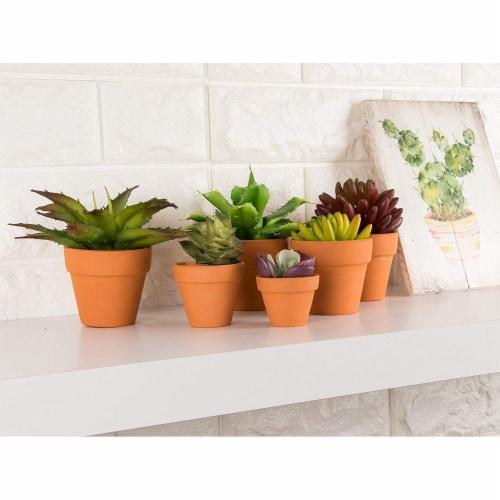 Terra Cotta Pots - 10-Count Terracotta Pots, 2.6-Inch Mini Flower Pots Perspective: top
