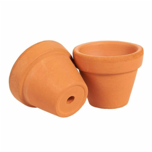 Juvale 10-Count Mini Terra Cotta Flower Pots - Ceramic Pottery Clay Planters Perspective: top