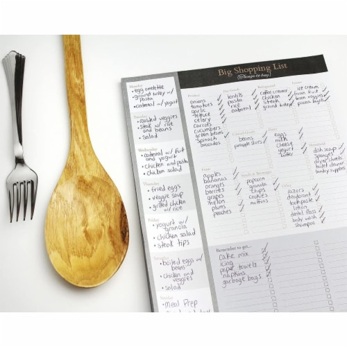 Large Magnetic Grocery, Shopping List Notepads for Fridge (156 Sheets, 3-Pack) Perspective: top