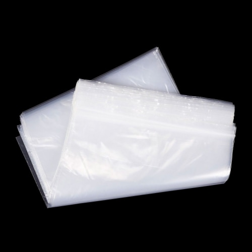 2 Gallon Resealable Plastic Storage Bags with Zipper Top (17 x 13 In, 120 Pack) Perspective: top