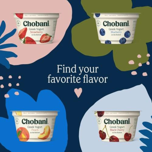 Chobani Strawberry on the Bottom Non-Fat Greek Yogurt Perspective: top