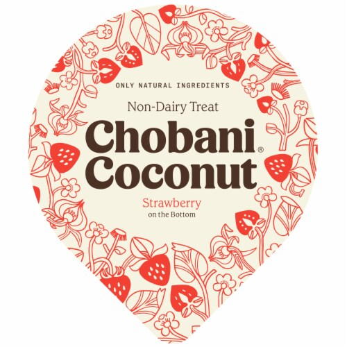 Chobani® Coconut Strawberry Non-Dairy Blend Perspective: top