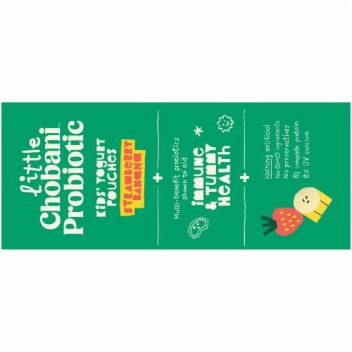 Little Chobani™ Probiotic Strawberry Banana Kids' Yogurt Pouches Perspective: top