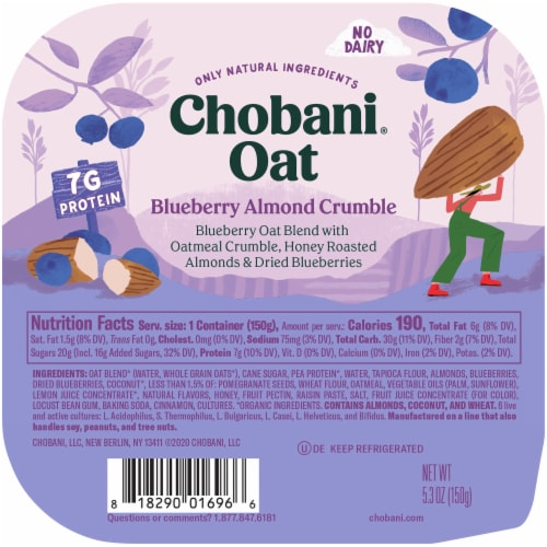 Chobani® Blueberry Almond Crumble Oat Blend Perspective: top