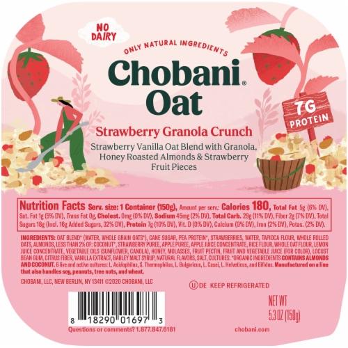 Chobani® Strawberry Granola Crunch Oat Blend Perspective: top
