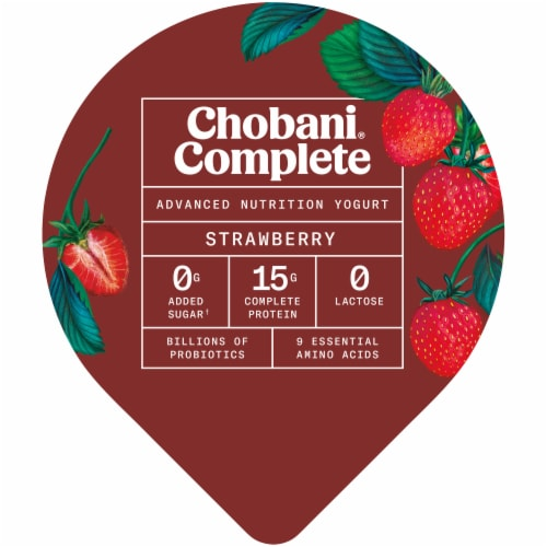 Chobani Complete Ultra Cup Strawberry Yogurt Perspective: top