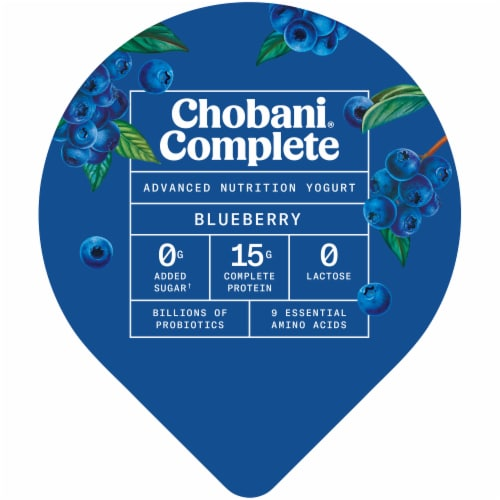 Chobani Complete Ultra Cup Blueberry Yogurt Perspective: top